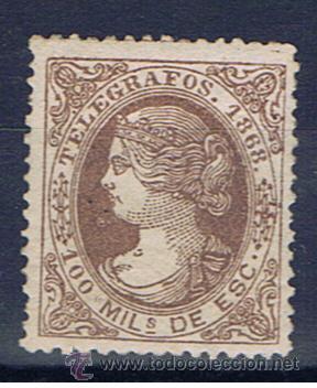 ISABEL II 1868 EDIFIL 21 VALOR 2010 CATALOGO 151 EUROS NUEVO** (Sellos - España - Dependencias Postales - Telégrafos)