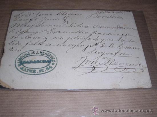 Sellos: ENTERO POSTAL REPUBLICA ESPAÑOLA BARCELONA ---- 1875 ----- VER FOTO PERDIDA DE PAPEL EN UNA PUNTA - Foto 2 - 30177383