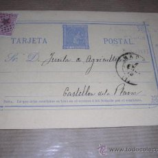 Sellos: ENTERO POSTAL MADRID 1878 - JUNTA DE AGRICULTURA CASTELLON DE LA PLANA 14,5X10 CM. . Lote 30177647