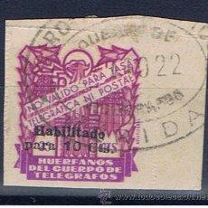 Briefmarken - Huerfanos del cuerpo de telegrafos 25 cts habilitado para 10 cts matasellado merida - 30543251