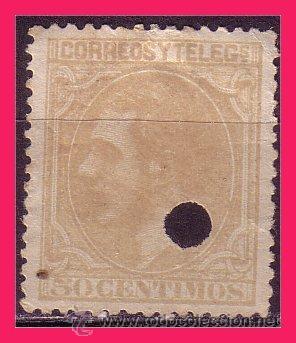 TELÉGRAFOS 1879 ALFONSO XII, EDIFIL Nº 206T (O) (Sellos - España - Dependencias Postales - Telégrafos)