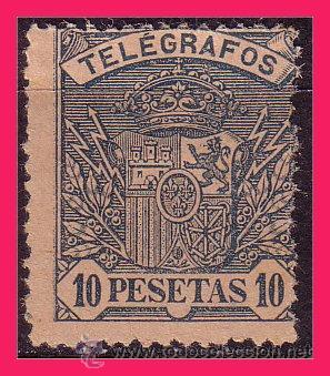 TELÉGRAFOS 1901 ESCUDO DE ESPAÑA EDIFIL Nº 38 (*) (Sellos - España - Dependencias Postales - Telégrafos)