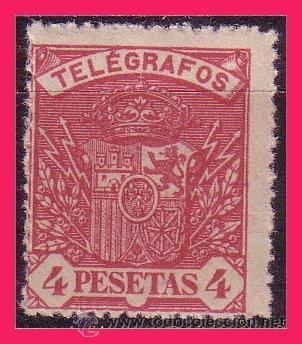 TELÉGRAFOS 1901 ESCUDO DE ESPAÑA EDIFIL Nº 37 * * (Sellos - España - Dependencias Postales - Telégrafos)