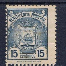 Timbres: BENEFICENCIA MUNICIPAL 15 CTS SAN SEBASTIAN NUEVO(*) . Lote 32996871