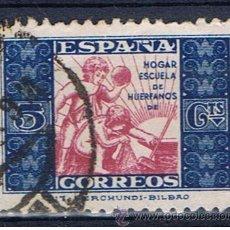Francobolli: HOGAR ESCUELA DE HUERFANOS DE CORREOS 1937 EDIFIL 9. Lote 33014135