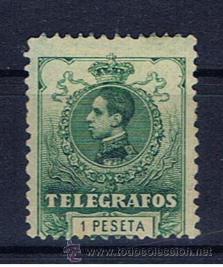 ALFONSO XIII 1912 EDIFIL 52 VALOR 2012 CATALOGO 22.-- EUROS NUEVO(*) (Sellos - España - Dependencias Postales - Telégrafos)