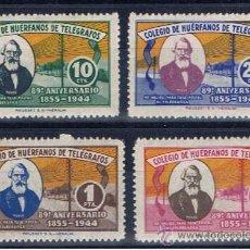 Sellos: BENEFICENCIA 1944 SERIES COMPLETAS NUEVOS*** COLEGIO DE HUÉRFANOS DE TELÉGRAFOS. Lote 243400065