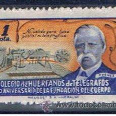 Sellos: BENEFICENCIA 1 PTS NUEVO*** COLEGIO DE HUÉRFANOS DE TELÉGRAFOS. Lote 33403058