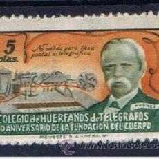BENEFICENCIA 5 pts nuevo*** colegio de HUÉRFANOS DE TELÉGRAFOS