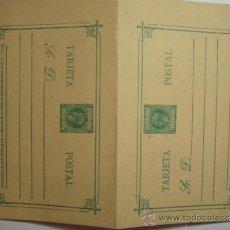 Sellos: ESCASO FILIPINAS ESPAÑA DOBLE ENTERO POSTAL AÑO 1898 - 1 CENTAVO DE PESO ALFONSO XIII SIN CIRCULAR. Lote 33975283