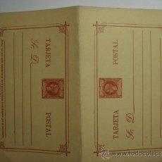 Sellos: ESCASO FILIPINAS ESPAÑA DOBLE ENTERO POSTAL AÑO 1898 - 3 CENTAVOS DE PESO ALFONSO XIII SIN CIRCULAR. Lote 33975292