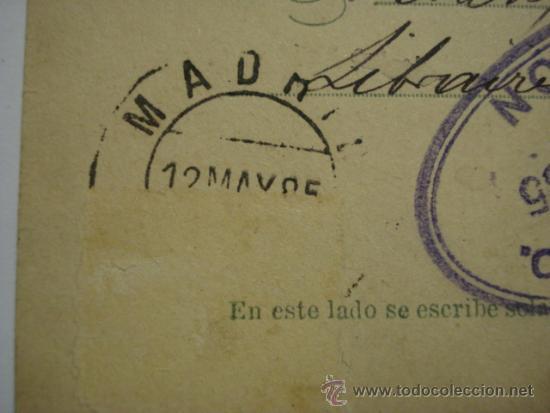 Sellos: RARO ESPAÑA ENTERO POSTAL AÑO 1884 - 5 CENTIMOS ALFONSO XII - FECHADOR LONDRES Y MADRID - Foto 3 - 33989616