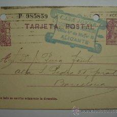 Sellos: ESPAÑA ENTERO POSTAL AÑO 1936 - 15 CENTIMOS ALICANTE 2ª REPUBLICA. Lote 33989651