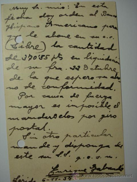 Sellos: HABILITADO DESPLAZADO ESPAÑA ENTERO POSTAL AÑO 1937 - 15 CENTIMOS AMBULANTE 2ª REPUBLICA - Foto 2 - 33989658
