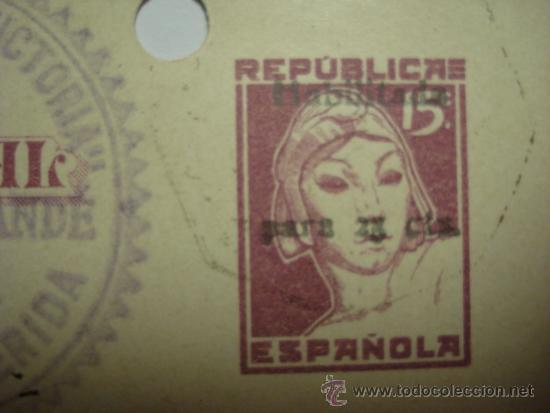 Sellos: HABILITADO DESPLAZADO ESPAÑA ENTERO POSTAL AÑO 1937 - 15 CENTIMOS AMBULANTE 2ª REPUBLICA - Foto 3 - 33989658