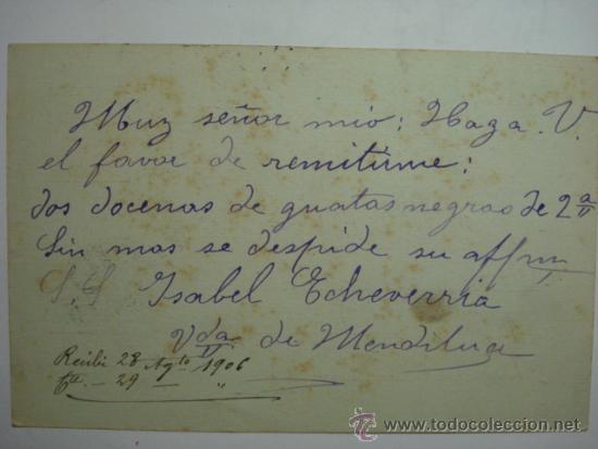 Sellos: ESPAÑA ENTERO POSTAL 10 CENTIMOS AÑO 1904 ALFONSO XIII SAN SEBASTIAN A TOLOSA - Foto 3 - 34059166