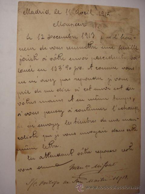 Sellos: ESPAÑA ENTERO POSTAL 10 CENTIMOS AÑO 1910 ALFONSO XIII MADRID A ROMA - Foto 3 - 34059178
