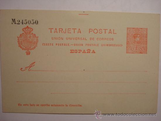 ESPAÑA ENTERO POSTAL 10 CENTIMOS AÑO 1910 ALFONSO XIII SIN CIRCULAR (Sellos - España - Dependencias Postales - Entero Postales)