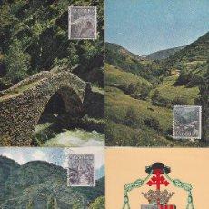 Sellos: ANDORRA ESPAÑOLA TIPOS DIVERSOS 1963-1964 (EDIFIL 60/67) EN OCHO TARJETAS MAXIMAS. RARAS ASI. MPM.. Lote 34727006