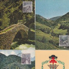 Sellos: ANDORRA ESPAÑOLA TIPOS DIVERSOS 1963-1964 (EDIFIL 60/67) EN OCHO TARJETAS MAXIMAS PRIMER DIA. MPM.. Lote 34842160
