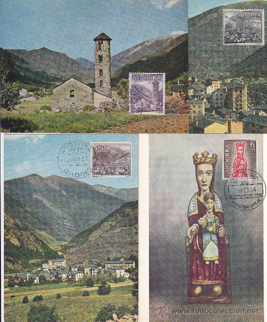 Sellos: ANDORRA ESPAÑOLA TIPOS DIVERSOS 1963-1964 (EDIFIL 60/67) EN OCHO TARJETAS MAXIMAS PRIMER DIA. MPM. - Foto 2 - 34885007