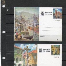 Sellos: ENTEROS POSTALES DE DE TURISMO DE ESPAÑA DEL ALO 1976 DE BILBAO Y PONTEVEDRA. Lote 34896265