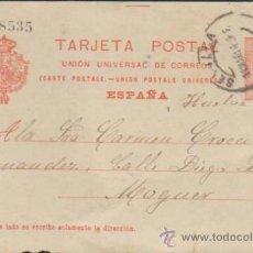 Sellos: TARJETA ENTERO POSTAL.DE SEVILLA A MOGUER DE 1914. EDIFIL Nº 49. . Lote 34942419