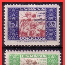 Sellos: BENEFICENCIA 1937 HUÉRFANOS DE CORREOS, EDIFIL Nº 9 Y 10 * *. Lote 36480610
