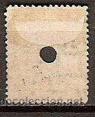 Sellos: SELLO DE ESPAÑA TELEGRAFOS EDIFIL 180T AÑO 1876 TALADRADO - Foto 2 - 37106113