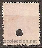 Sellos: SELLO DE ESPAÑA TELEGRAFOS EDIFIL 207T AÑO 1879 TALADRADO - Foto 2 - 37106268