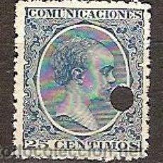Sellos: SELLO DE ESPAÑA TELEGRAFOS EDIFIL 221T AÑO 1889/99 TALADRADO . Lote 37106336