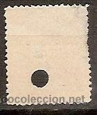 Sellos: SELLO DE ESPAÑA TELEGRAFOS EDIFIL 222T AÑO 1889/99 TALADRADO - Foto 2 - 37106383