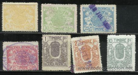 8234-LOTE COLECCION SERIE FISCALES ESPAÑA AÑO 1926 HACIENDA PROVINCIAL 26,00€ CATALOGO EDIFIL ALEMAN (Sellos - España - Dependencias Postales - Beneficencia)