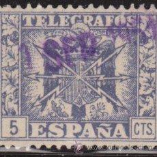 Sellos: ESPAÑA TELEGRAFOS 1949 EDIFIL 85 SELLO º ESCUDO DE ESPAÑA Nº CONTROL AL DORSO 5C SPAIN STAMPS TIMBRE. Lote 39251507