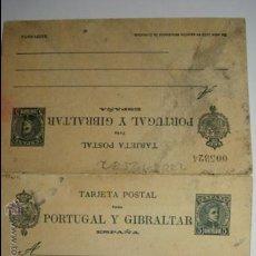 Sellos: ESPAÑA DOBLE ENTERO POSTAL AÑO 1903 - 5 CENTIMOS ALFONSO XIII SIN CIRCULAR. Lote 33989622