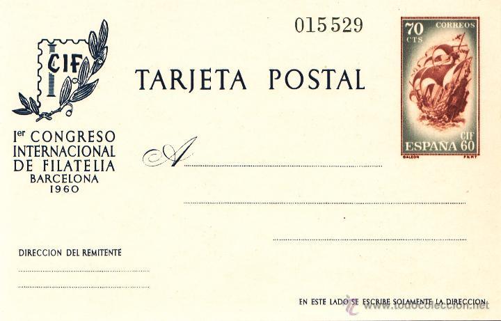EXPOSICIÓN INTERNACIONAL DE FILATELIA. BARCELONA 1960. ENTERO POSTAL. EDIFIL Nº 88. PERFECTO (Sellos - España - Dependencias Postales - Entero Postales)