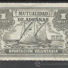 Sellos: MUTUALIDAD DE ADUANAS 1 PTS NUEVO(*) APORTACION VOLUNTARIA. Lote 45769786