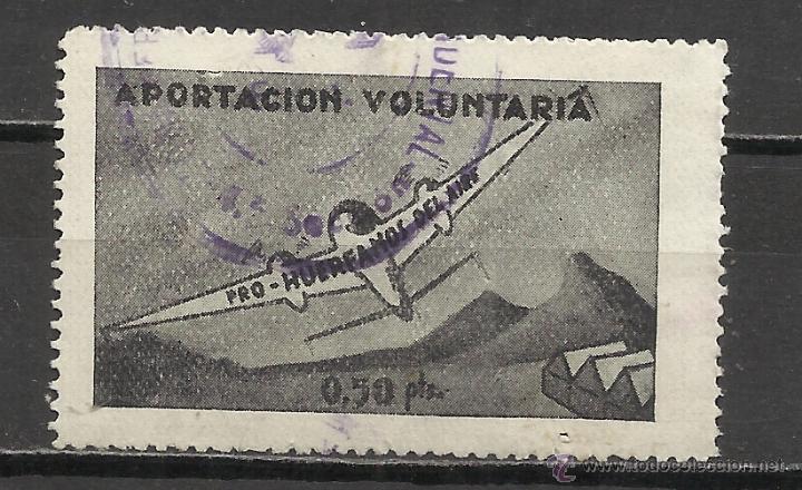 419C-SELLO FISCAL DE AVIACION HUERFANOS DEL EJERCITO DEL AIRE 0,50 PESETAS,APORTACIÓN VOLUNTARIA.DEN (Sellos - España - Dependencias Postales - Beneficencia)