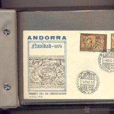Sellos: COLECCION SOBRE PRIMER DIA ANDORRA Y GENEVE TOTAL 80 SOBRES. Lote 50352138