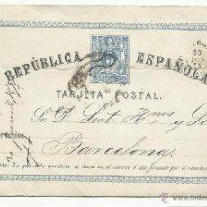 Sellos: ENTERO POSTAL ESCRITO 1875 DE ZARAGOZA A BARCELONA EDIFIL 3 VALOR 2015 CAT 13,50 EUROS VER FOTO. Lote 67947238