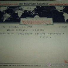 Sellos: TELEGRAMA 1954 VIA TRANSRADIO ESPAÑOLA. Lote 51171336