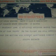 Sellos: TELEGRAMA 1954 VIA TRANSRADIO ESPAÑOLA. Lote 51171363