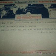 Sellos: TELEGRAMA 1954 VIA TRANSRADIO ESPAÑOLA. Lote 51171384