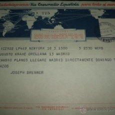 Sellos: TELEGRAMA 1954 VIA TRANSRADIO ESPAÑOLA. Lote 51171414