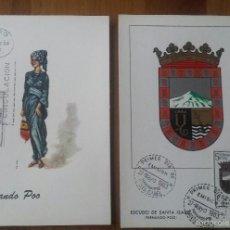 Sellos: FERNANDO POO. TRAJE REGIONAL (M. FILATÉLICO) Y ESCUDO (ARRONIZ). MÁXIMA. PRIMER DIA. 1963-67 . Lote 56376682