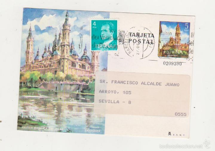 TARJETA ENTERO POSTAL EDIFIL 104. CON FRANQUEO ADICIONAL DE 4 PTS. (Sellos - España - Dependencias Postales - Entero Postales)