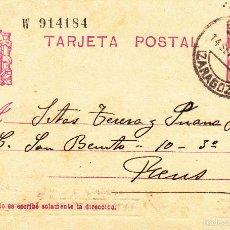 Sellos: ENTERO POSTAL REPÚBLICA 1936 CAT LAIZ NUM. 69- DE MARIA ROSA CHACÓN DE CALATAYUD --1934---. Lote 57752553