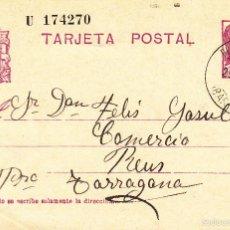 Sellos: ENTERO POSTAL REPÚBLICA 1936 CAT LAIZ NUM. 69- DE PLÀ DEL PENEDÉS --1934----. Lote 57752755