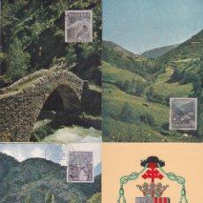 Selos: ANDORRA ESPAÑOLA TIPOS DIVERSOS 1963-1964 (EDIFIL 60/67) EN OCHO TARJETAS MAXIMAS. RARAS ASI. MPM.. Lote 31037745