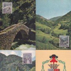 Sellos: ANDORRA ESPAÑOLA TIPOS DIVERSOS 1963-1964 (EDIFIL 60/67) EN OCHO TARJETAS MAXIMAS PRIMER DIA. MPM.. Lote 34885007